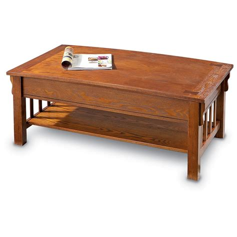 mission style coffee table light castlecreek mission style lift top coffee table 281544