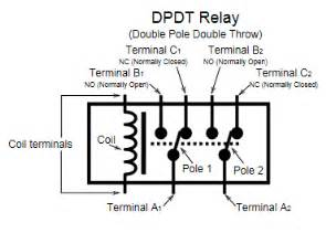 dpdt relay double pole double throw relay