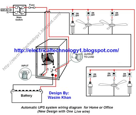 electrical technology automatic ups system wiring wiring diagram for home or office new design