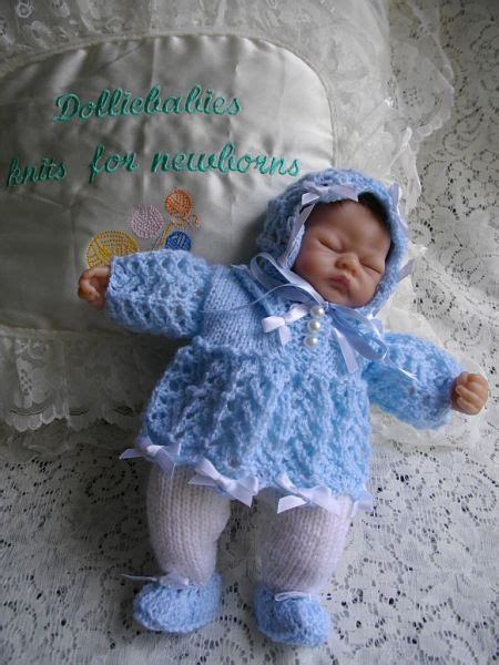 micro preemie knitting patterns knitting pattern no 27 micro preemie 10 quot dress set