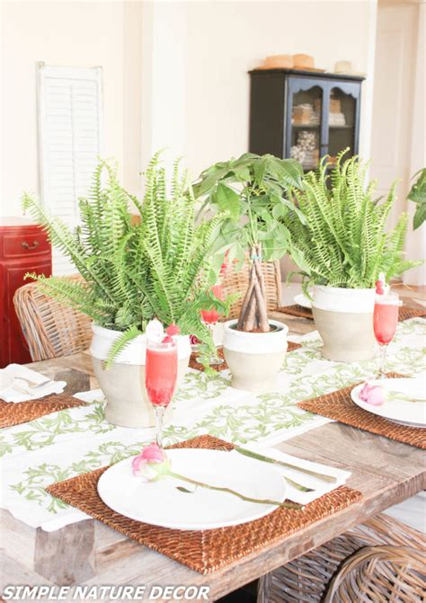 indoor garden birthday ideas simple nature decor