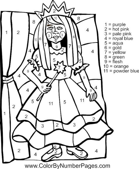 princess coloring pages by numbers 87 best images about color by number on pinterest