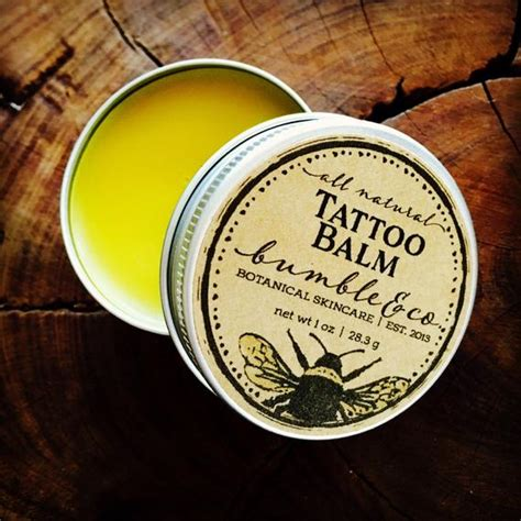 natural tattoo aftercare balm aftercare herbal by bumbleandco