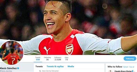 alexis sanchez reaction alexis sanchez reacts to mercenary claims on twitter ahead