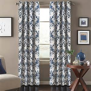 Magnolia Kitchen Curtains Magnolia Window Curtain Panel In Blue Bed Bath Beyond