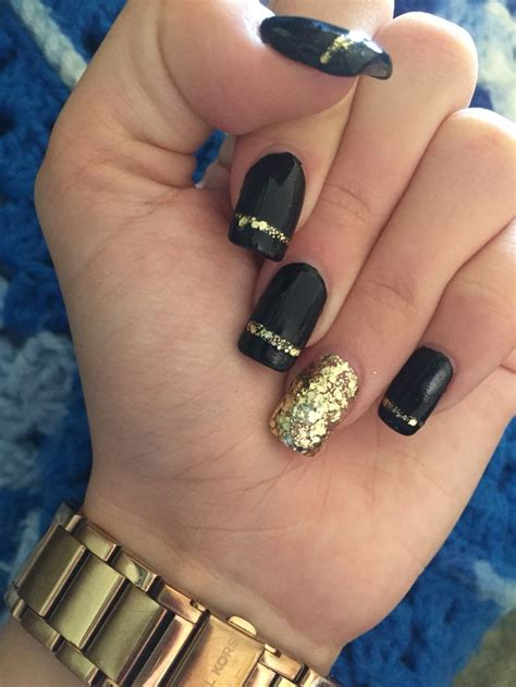 Nails And More by 25 Best Ideas About Black Gold Nails On Nail
