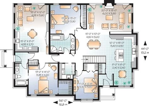 house plans with inlaw apartment in suite house plan