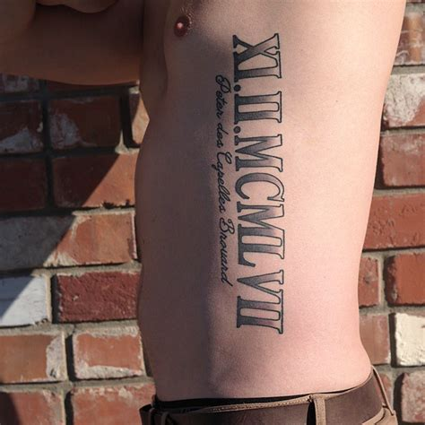 roman letter tattoo designs 20 numerals side rib tattoos