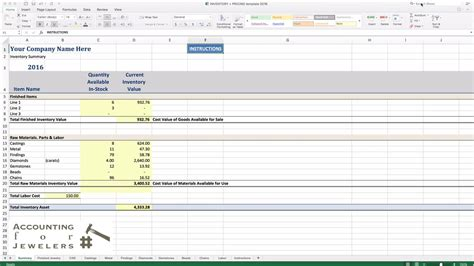 Spreadsheet Software Free by Free Jewelry Inventory Spreadsheet Greenpointer