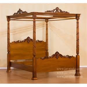Queen Wood Canopy Bed by Poster Bed Frames Queen Size Images