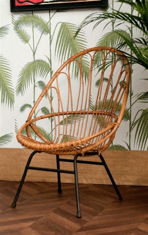 chaise rotin design vintage rattan chair 50s 1950 vintage rattan chairs design 50