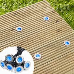 blue led solar garden lights 6 solar power blue led stainless steel decking deck