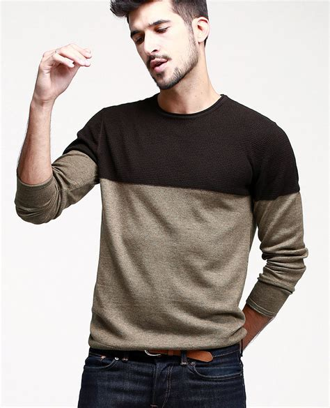 2015 new arrival brands mens sweaters and pullovers stylish patchwork casual knitted