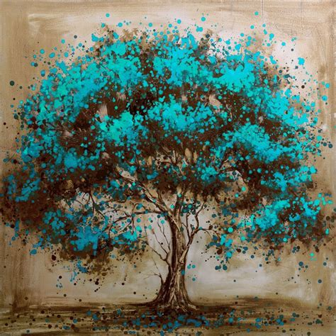 modern paints hand painted modern tree art decoration oil painting on