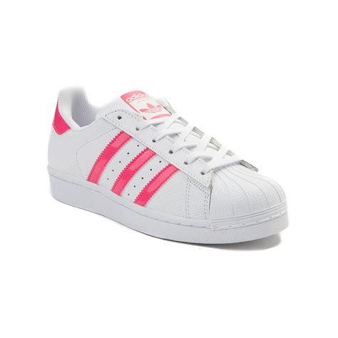 youth adidas superstar athletic shoe white