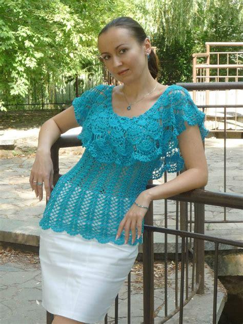 Blouse Scuba scuba blue tenderness blouse