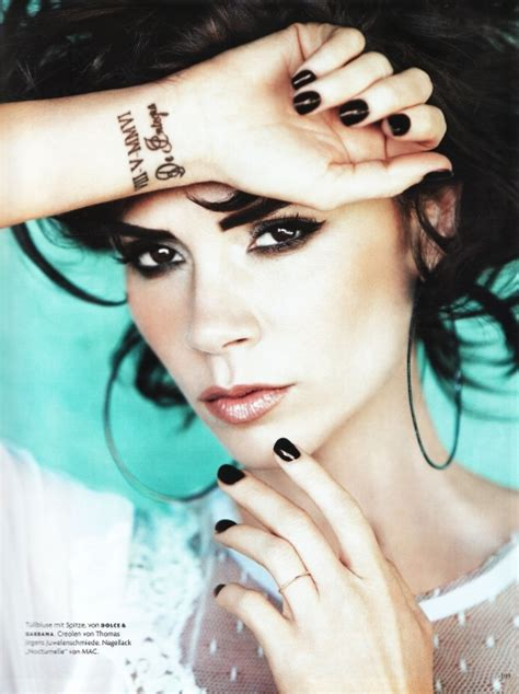 victoria beckham tattoo wrist does say