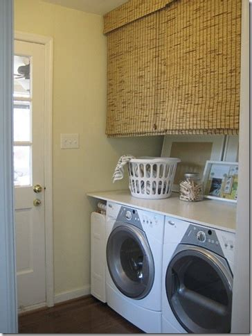 shades washer and dryer laundry room