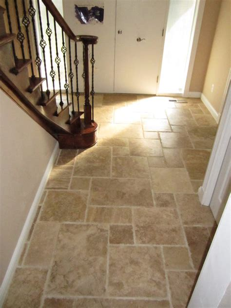 Travertine Entryway interlocking travertine entry traditional entry detroit by legacy floors