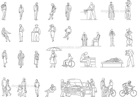 dwg format photoshop casual people dwg free cad blocks download