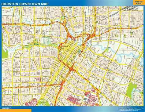 houston map downtown streets houston downtown map canada wall maps