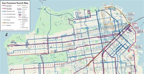 san francisco transportation map san francisco s rider friendly transit map shows
