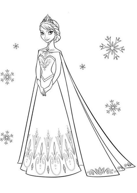 Gambar Mewarnai Frozen Elsa Terbaru - gambar mewarnai