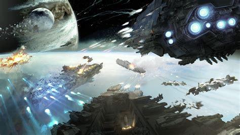 wallpaper dreadnought game space battle planet