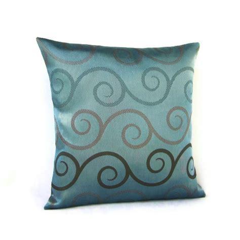 brown teal pillows 16x16 throw pillow cover blue seafoam teal brown by