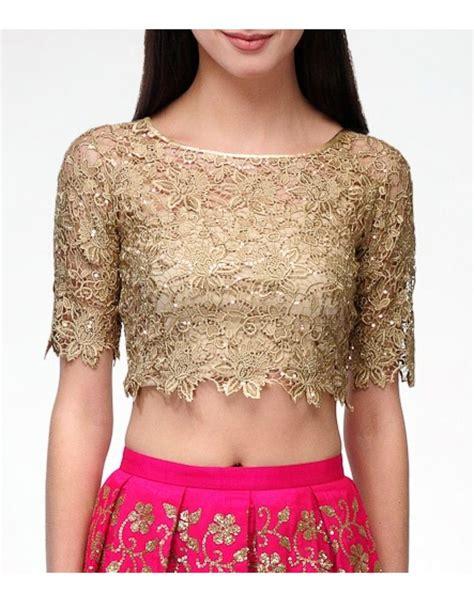 design dress tops lace gold crop top blouses clothing design