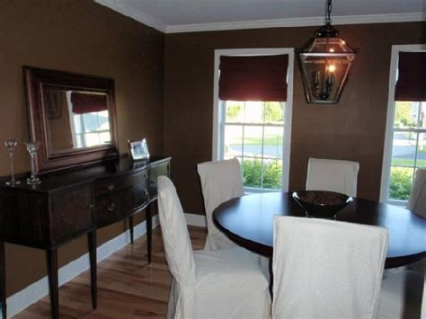 Brown Dining Blue Room Chcolate Brown Walls Transitional Dining Room Benjamin Blue Ridge Mountains
