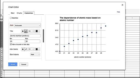 how to sheets how to make a graph in sheets scatter plot