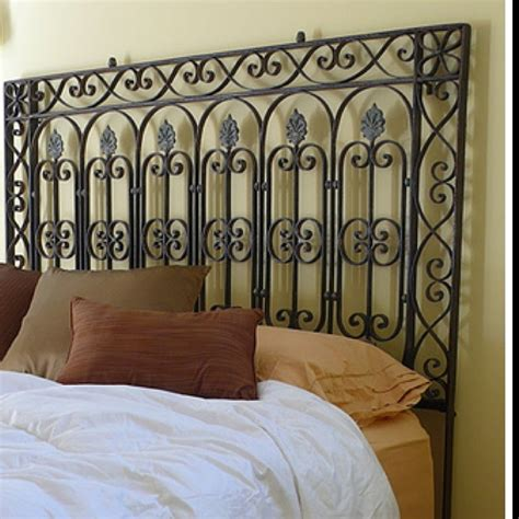 Wrought Iron Headboard by How Magnificent Artistic Impression Wrought Iron Headboard