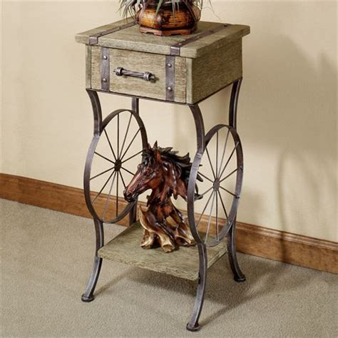 Western Home Decor Wholesale Open Range Western Accent Table