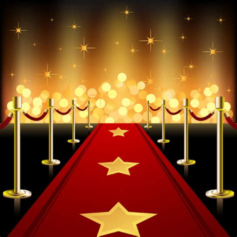 ornate red carpet backgrounds vector material