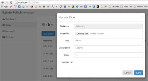 partial view layout null asp net mvc file upload in mvc when used in bootstrap