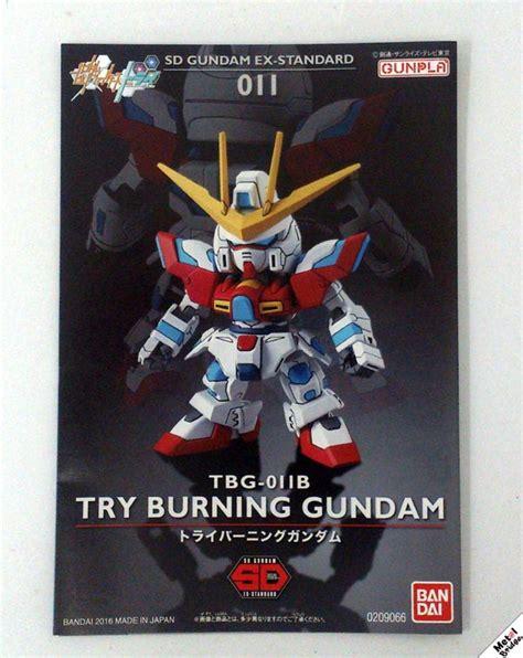 Sd Gundam Ex Standard Try Burning Gundam Sd sd gundam ex standard try burning gundam แกะกล อง