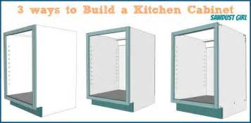 How Make Kitchen Cabinets three ways to build a basic kitchen cabinet sawdust girl 174