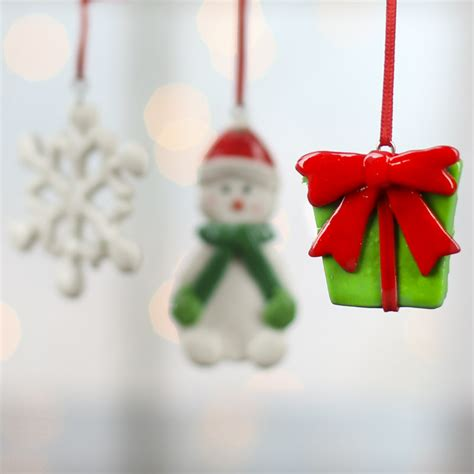 shiny clay christmas ornaments christmas ornaments