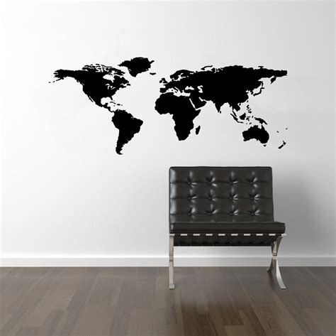 world wall stickers world map wall decal travel wall decor map wall by decallab