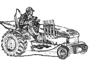 Tractor Pulling Trucks Coloring Pages Sketch Page sketch template