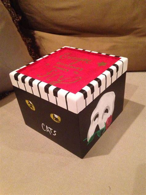 themed gift box broadway themed gift box artseadesigns com pinterest
