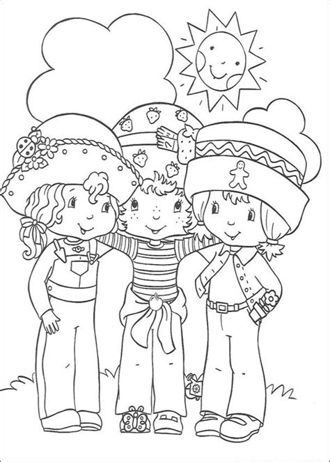 Free Printable Strawberry Shortcake Coloring Pages For Kids Strawberry Shortcake And Friends Coloring Pages