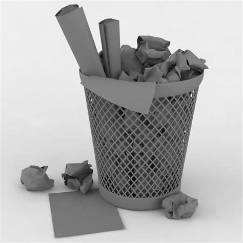 waste paper basket 3d model 3d waste paper basket
