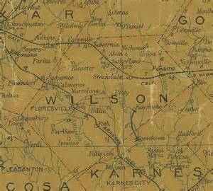 wilson county map kosciusco