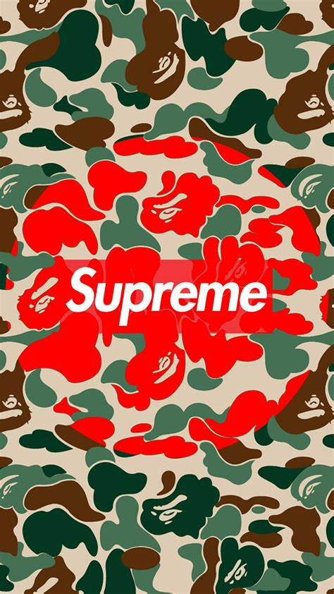 the supreme supreme bape jungle camo wallpaper authenticsupreme