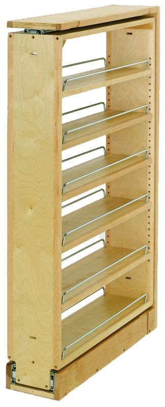 rev a shelf 432 bf 6c 6 quot wood base cabinet pullout filler rev a shelf 432 tf39 6c natural wood 432 series 39 quot tall