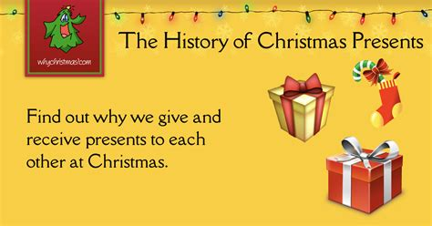 the history of giving presents at christmas christmas