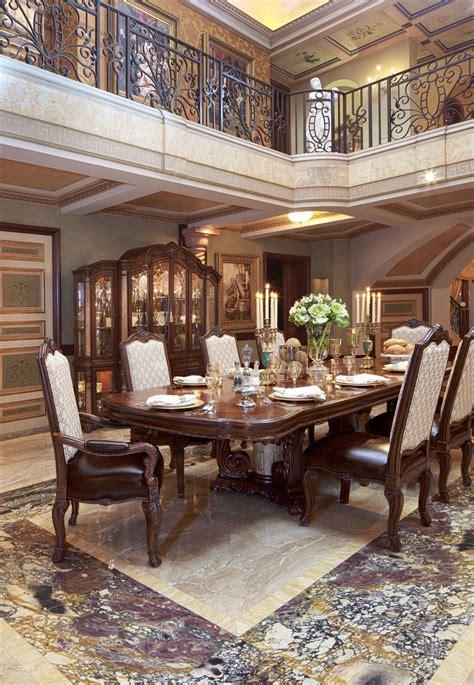 victoria palace rectangular dining room set  aico