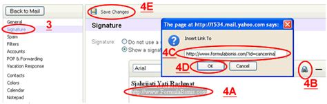 cara membuat signature di yahoo mail terbaru jokosusilo com cara gang membuat signature email di